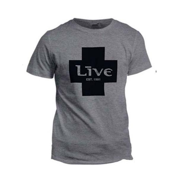 Black Cross Grey Tshirt