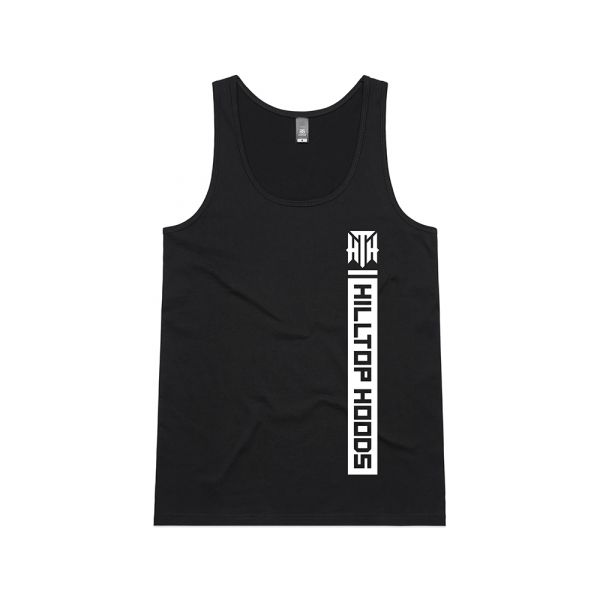 POCKET STRIP LADIES BLACK TANK