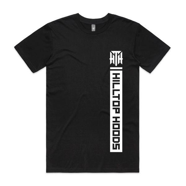 POCKET STRIP UNISEX BLACK TSHIRT