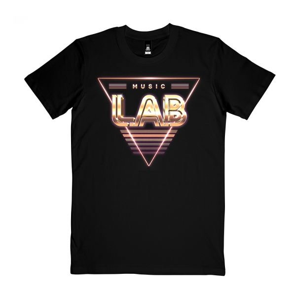 Triangle Black Tshirt (Front Print Only)