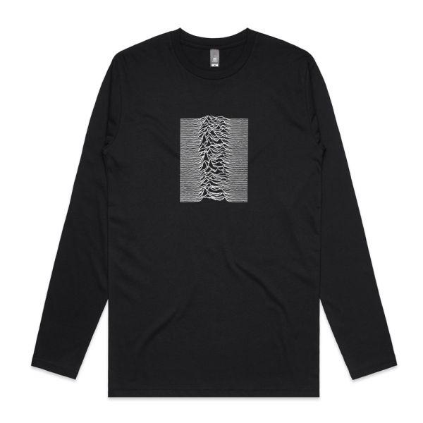 Unknown Pleasures Black Longsleeve Tshirt