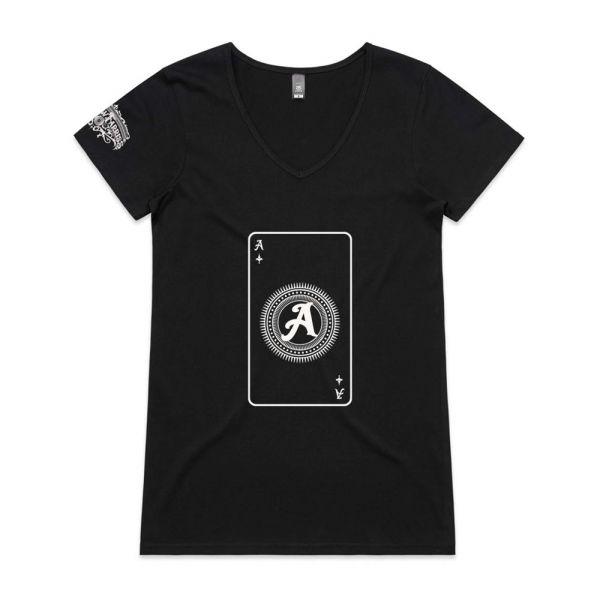 Playing Card Black Womens Tshirt