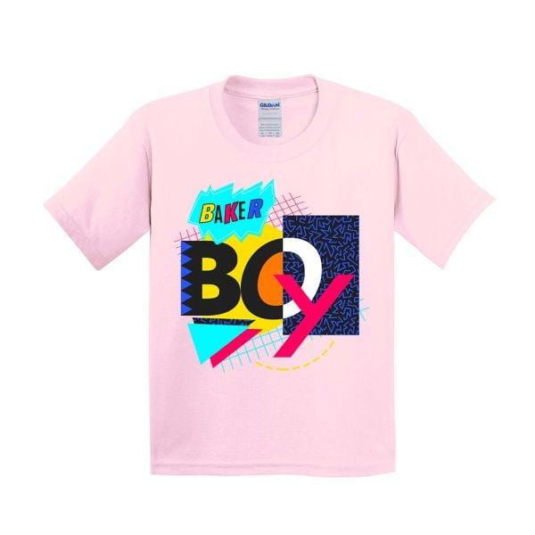 Light Pink 90's Mash Up Kids Tshirt