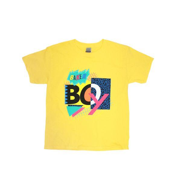90's Mash Up Yellow Kids Tee