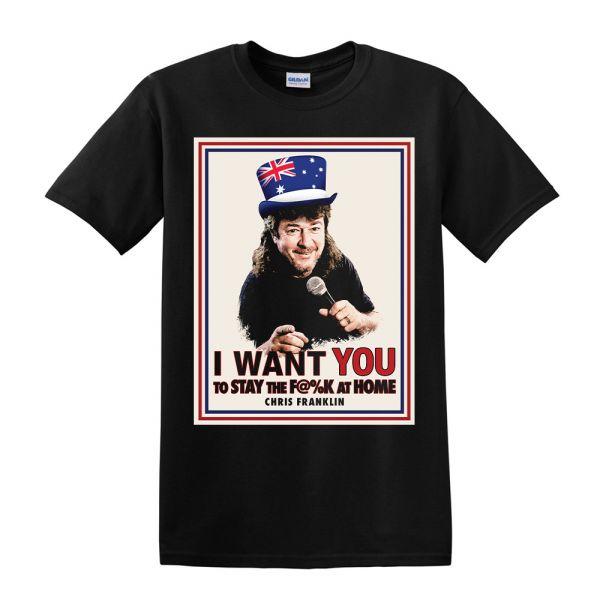I WANT YOU Black Tshirt