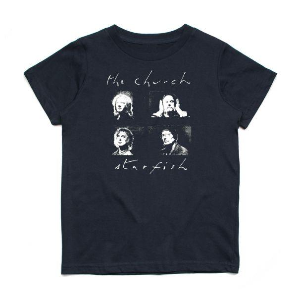 Starfish Black Kids Tshirt