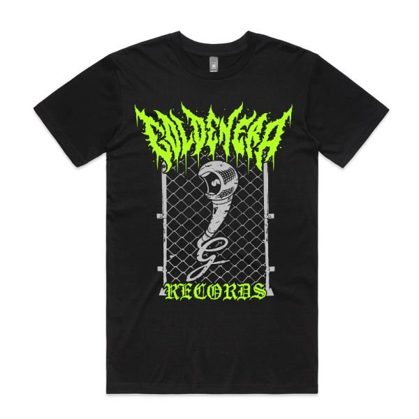 "Golden ""Death Metal"" Era Black Tshirt"