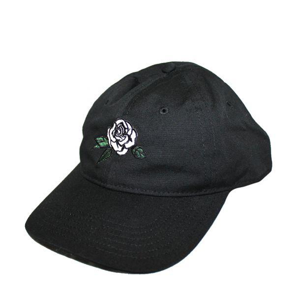 Dad Cap (Black) Emroidered Rose