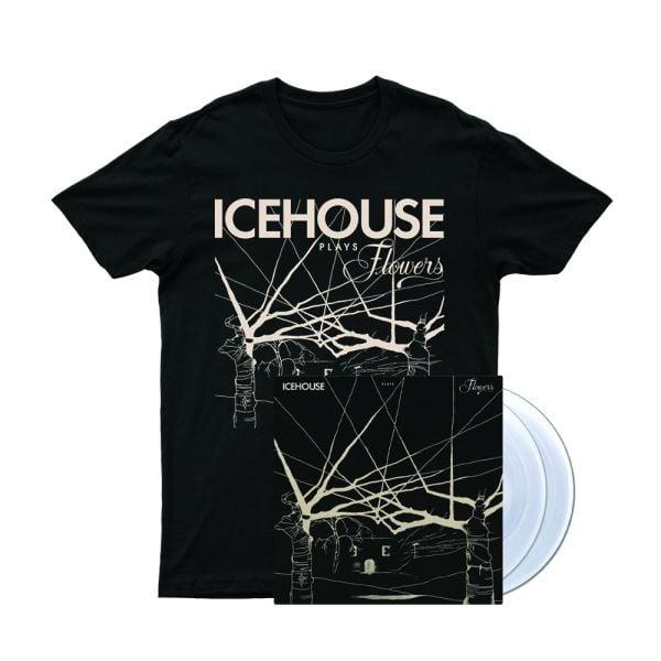 Icehouse Plays Flowers Tshirt/ LP (Clear Vinyl)