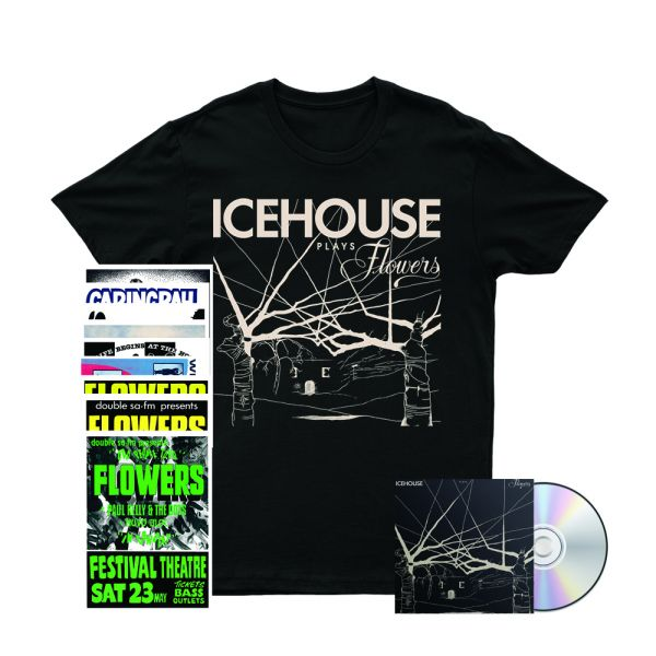 Icehouse Plays Flowers CD/ Tshirt/ Poster Set Bundle