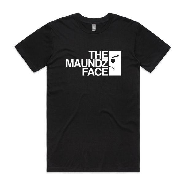 Maundz Face Black Tshirt