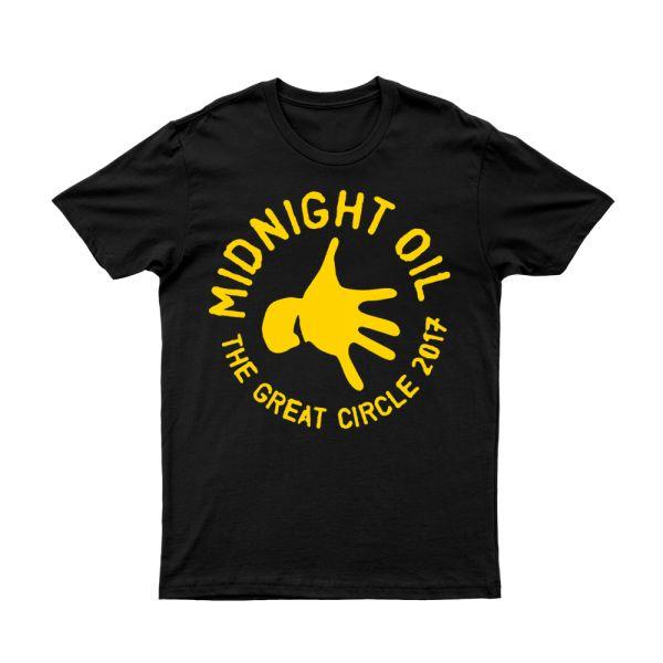 Hand Black Tshirt The Great Circle 2017 Tour