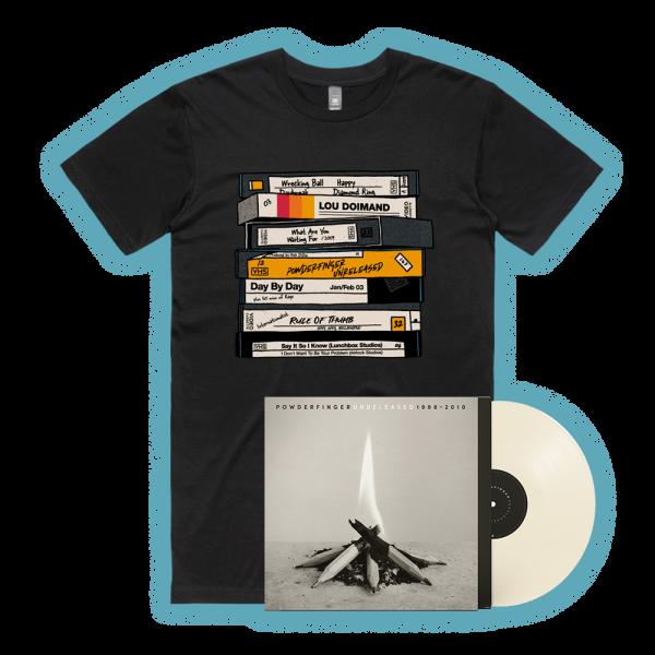 Unreleased 1998-2010 LP (Vinyl)/ VHS Black Tshirt