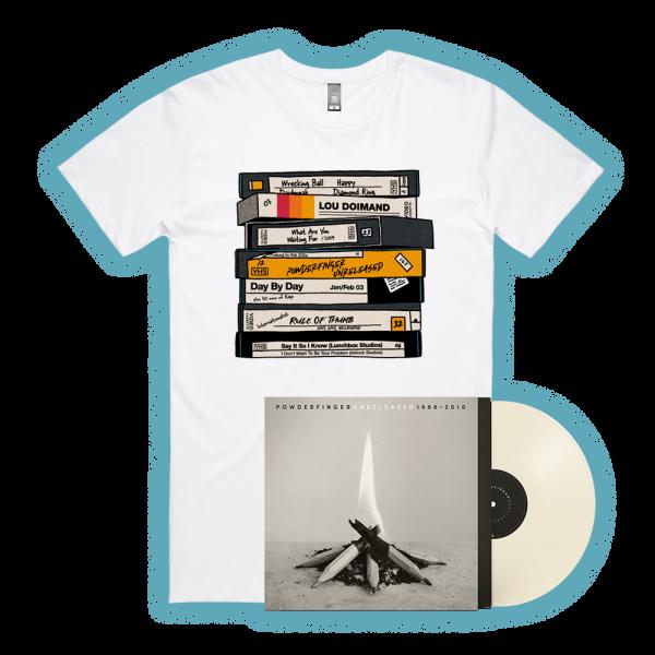 Unreleased 1998-2010 LP (Vinyl)/ VHS White Tshirt