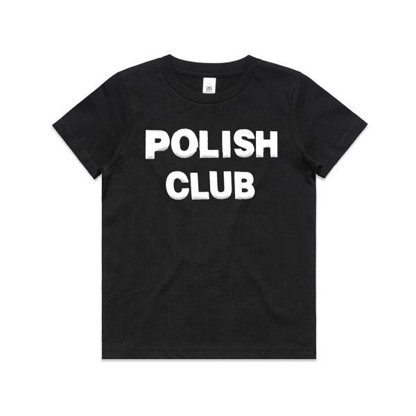 Classic Puffy Logo Black Kids Tshirt