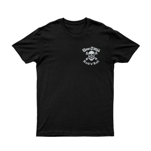Pocket Skull Rocker/Snakes on Back Black Tshirt