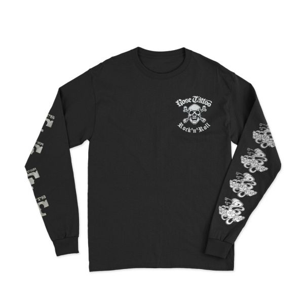 Pocket Skull/Rocker/Snakes on Back/TFFT Black Longsleeve Tee