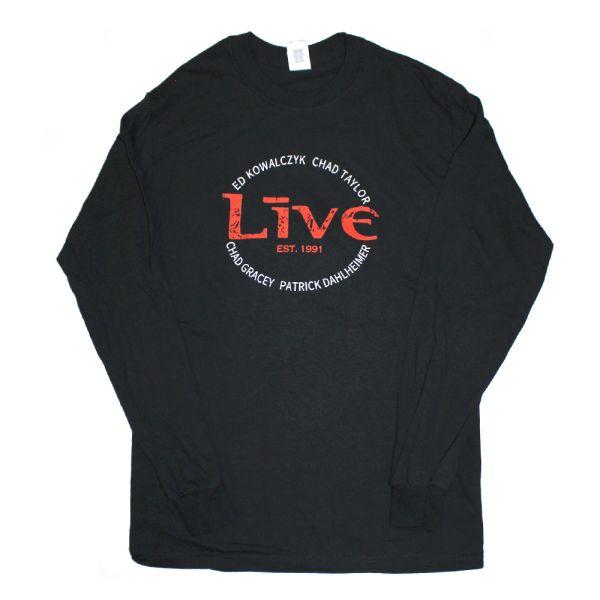 Logo Names Longsleeve Black Tshirt
