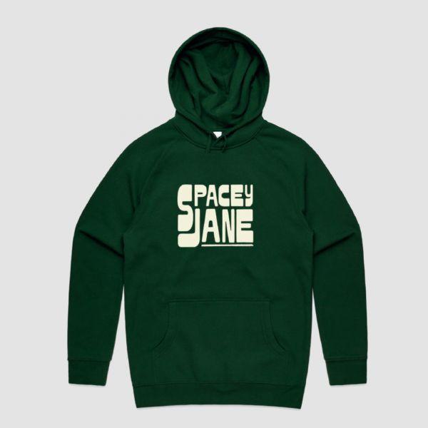 Stack Logo Green Hoodie