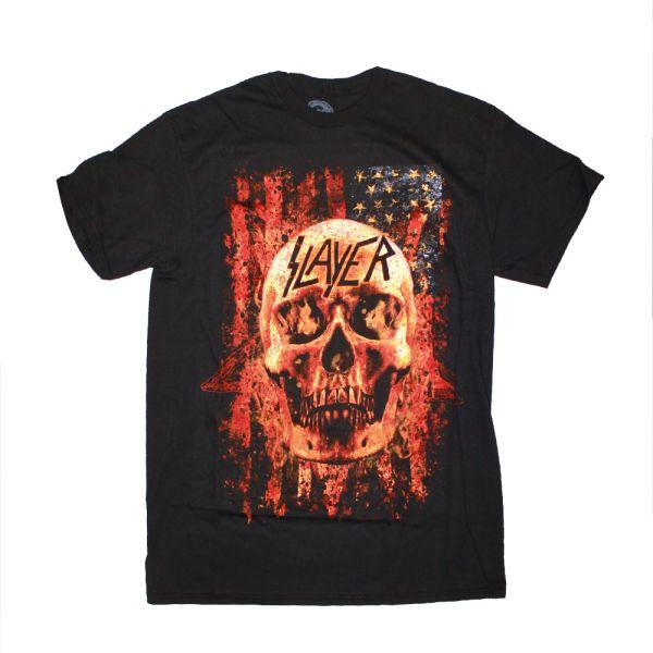 Skull Flames Black Tshirt