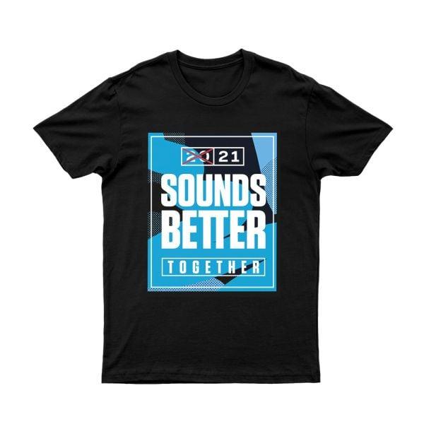 Sounds Better Together Black Event Tshirt
