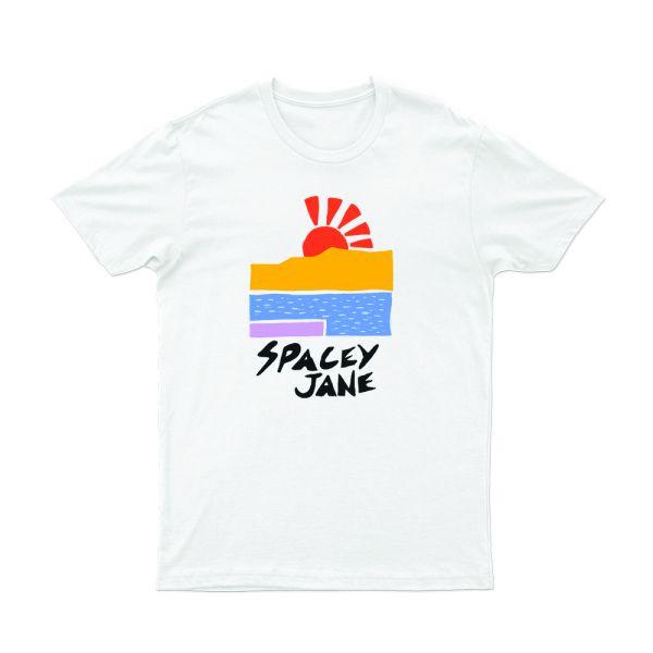 Beach Sun White Tshirt