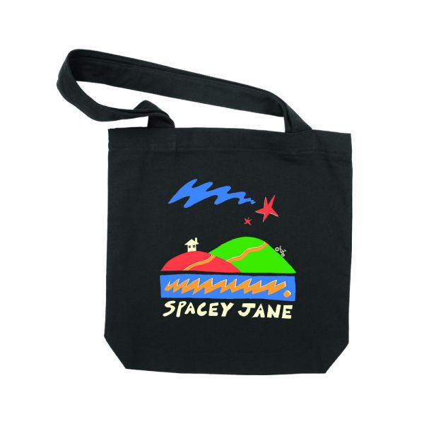 Star House Black Tote Bag