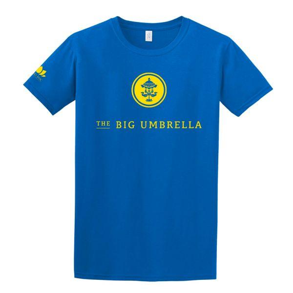Yellow Logo Blue Tshirt