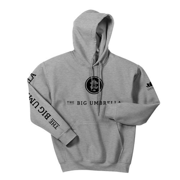 Black Logo Grey Hoodie