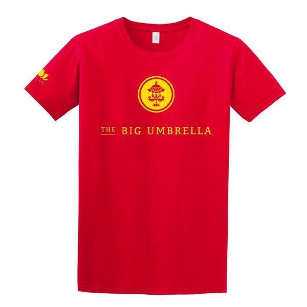 Yellow Logo Red Tshirt
