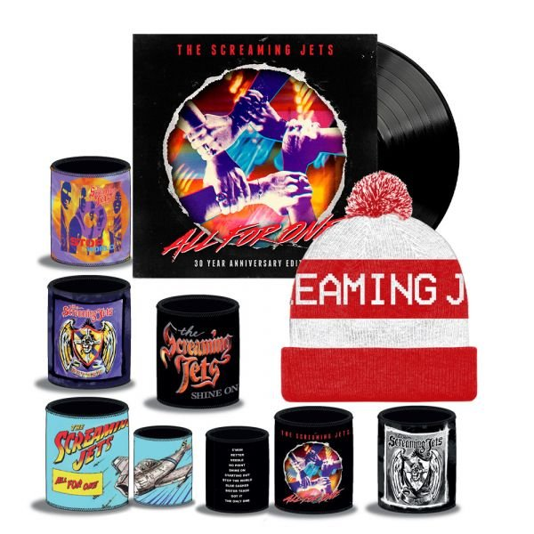 All For One - 30 Year Anniversary Edition Black Vinyl (LP) + White/Red Beanie + Stubby Bundle Pack