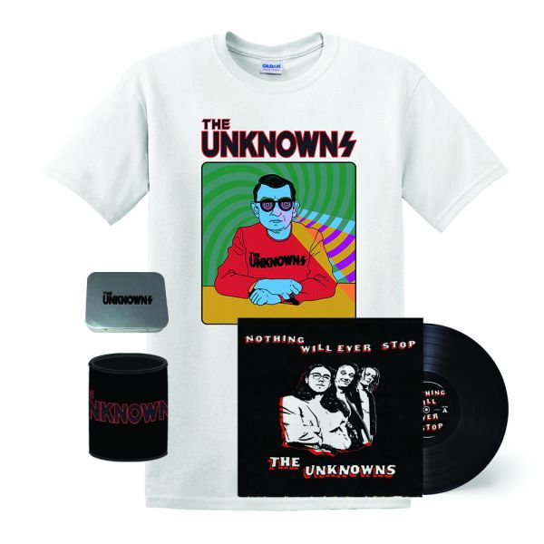 Nothing Will Ever Stop LP (Black Vinyl), X-Ray Tshirt, Stubby Cooler & Tin