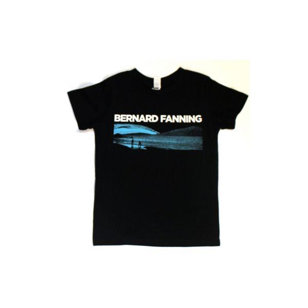 Blue Logo Black Kids Tshirt