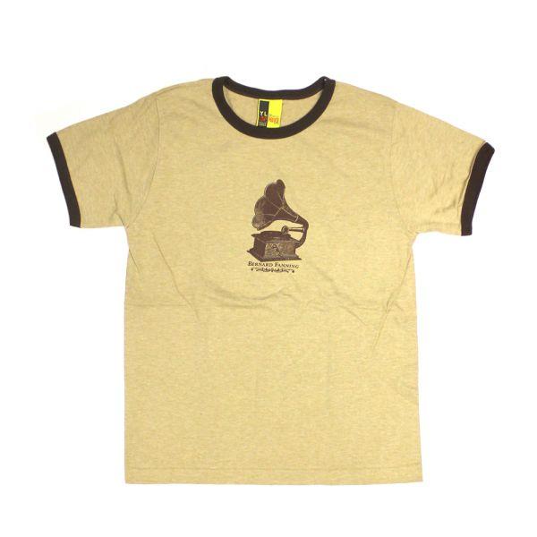 Gramaphone Light Brown Mens Tshirt