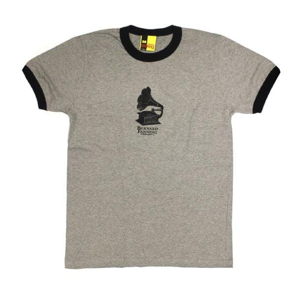 Gramaphone Grey Mens Ringer Tshirt