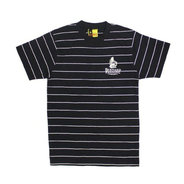 Gramaphone Striped Black Mens Tshirt