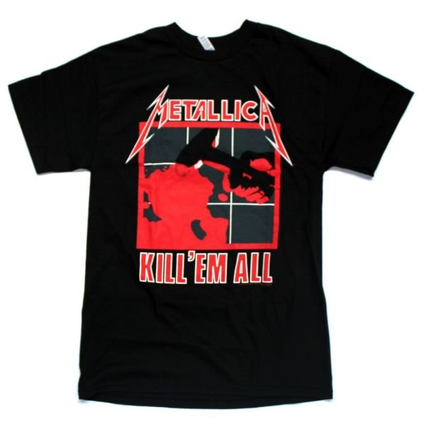 Kill 'Em All Black Tshirt