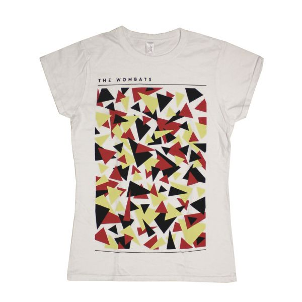 Triangles Ladies White Tshirt