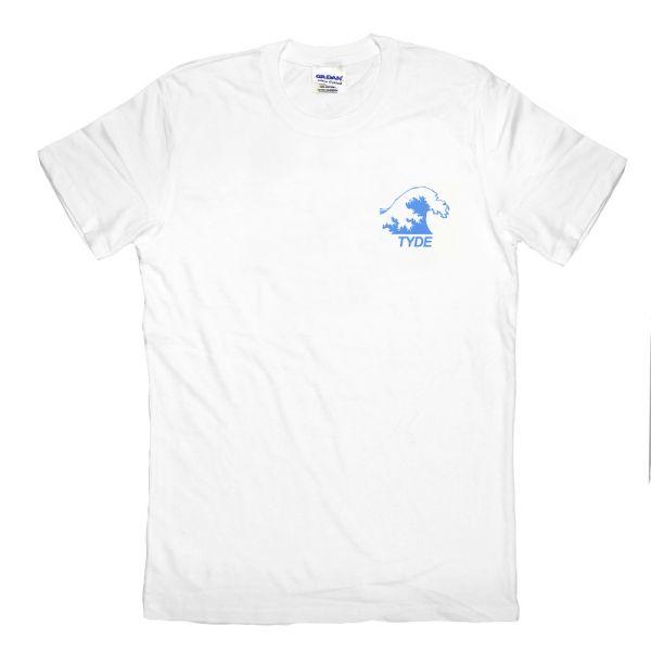 Blue Wave White Tshirt